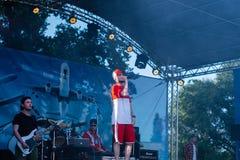 Koncert Ukraiński rap artysta Yarmak Maj 27, 2018 przy festiwalem w Cherkassy, Ukraina Obraz Royalty Free