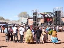 Koncert w Altiplano w losie angeles Paz, Boliwia, Ameryka Południowa Zdjęcia Royalty Free