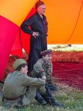Koncert wojenne piosenki w Kaluga regionie w Rosja Fotografia Stock