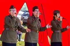 Koncert wojenne piosenki w Kaluga regionie w Rosja Fotografia Royalty Free