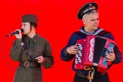 Koncert wojenne piosenki w Kaluga regionie w Rosja Obrazy Royalty Free