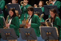 koncert wykonuje uczni Fotografia Royalty Free