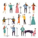 Koncerta i muzyki grupy Wokalnie duety Muzyka i piosenkarzów występy royalty ilustracja