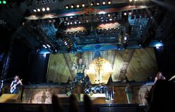 koncertowa żelazna dziewczyna Obraz Royalty Free