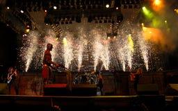 koncertowa żelazna dziewczyna Zdjęcie Royalty Free