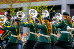 Koncertowego zespołu lub windband spełnianie podczas wydarzenia Fotografia Royalty Free