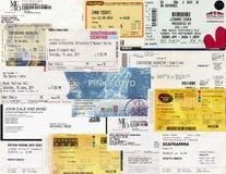 Koncertowi bilety Fotografia Stock
