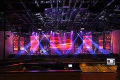 Koncertowi scen światła Zdjęcia Royalty Free