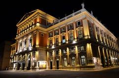 Koncertowy dom Wiedeń przy nocą Obraz Royalty Free