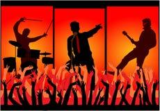 koncertowy koncertowe ręki royalty ilustracja