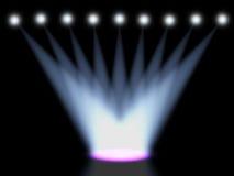 Koncertowy oświetlenie przeciw zmrokowi Zdjęcie Stock
