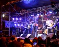 Koncertowy piosenkarz Felix Shinder w Odessa Zdjęcia Stock