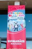 Koncertowy plakat zespół dla dziecka Os Caricas w Multiusos arenie Guimaraes, Obrazy Royalty Free
