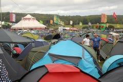 Koncertowy wystrzału camping Obraz Royalty Free