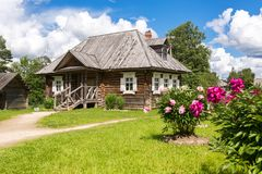 Museum homestead of Alexander Suvorov near Borovichi. Konchanskoe-Suvorovskoe, Russia - July 22, 2017: Museum homestead of Alexander Suvorov near Borovichi Stock Photo