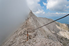 Koncheto Peak on Mountain Pirin Stock Images