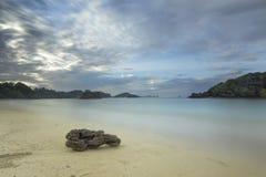 Kondang Merak strand - Malang, Indonesien Royaltyfria Bilder