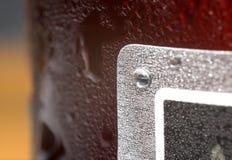 Kondensation auf Flasche Stockbild