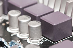 Kondensatorhalbleiterbauelemente Stockfotografie