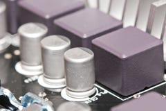 Kondensatorhalvledaredelar arkivbild