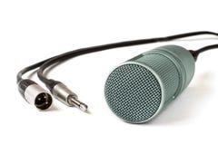 Kondensatormikrofon på en vit Fotografering för Bildbyråer