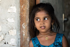 KONDEY, MALDIVES - MARCH, 12 2014 - Childrens and People in the street before evening pray time Stock Photo