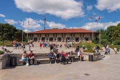 Kondiaronkbelvedere voor het Chalet du Mont Royal royalty-vrije stock foto's