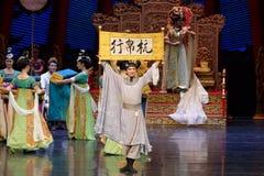 Kondig de winnaar-tweede handeling aan: een feest in de van het paleis-heldendicht de Zijdeprinses ` dansdrama ` stock afbeeldingen