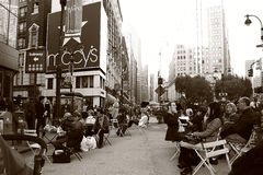 Kondig Vierkant in de Stad van New York aan Stock Fotografie