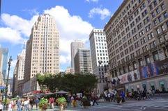 Kondig Vierkant in Uit het stadscentrum Manhattan, NYC aan Stock Fotografie