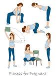 Kondition för gravid vektor illustrationer