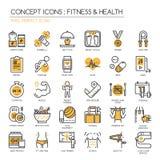 Kondition & hälsa, perfekt symbol för PIXEL royaltyfri illustrationer