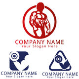 Kondition Logo Concept Royaltyfri Foto