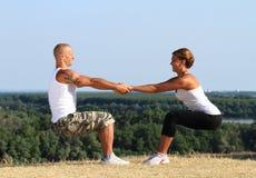 Kondition och yoga Royaltyfria Foton
