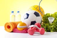 Konditionhantlar och sportutrustning Royaltyfri Fotografi