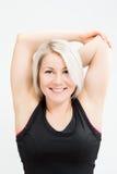 Konditionkvinna för blont hår Royaltyfri Bild