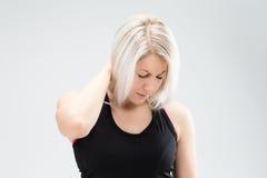 Konditionkvinna för blont hår Arkivbilder