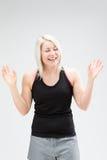 Konditionkvinna för blont hår Royaltyfri Foto