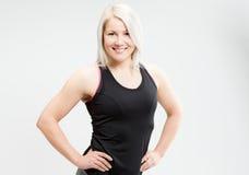 Konditionkvinna för blont hår Royaltyfri Fotografi