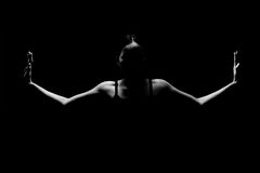 Konditionkvinnan, flicka kan göra starkt Fotografering för Bildbyråer