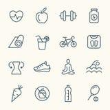 Konditionlinje symboler stock illustrationer