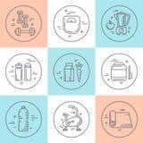 Konditionlinje symboler Arkivbild
