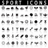 konditionsymboler sju silhouettessportar Arkivbild