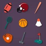 konditionsymboler sju silhouettessportar royaltyfri illustrationer