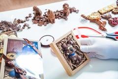 Konditoremballagechoklad arkivfoto
