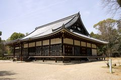 Kondo main hall in Ninna-ji temple, Kyoto, Japan. Royalty Free Stock Images