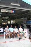 Kondo Nissan team garage, SuperGT 2010 stock photo