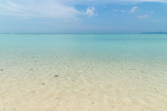 Kondoi Beach in Taketomi Island, Okinawa Japan Stock Photos