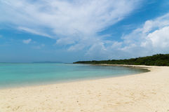 Kondoi Beach in Taketomi Island, Okinawa Japan. Taketomi Island is one of the Yaeyama Islands group in Okinawa, Japan. It's raised coral atoll. Kondoi Beach is Royalty Free Stock Image