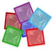 Kondoma Colour kolekcja Na Białym Bakground ilustracja wektor